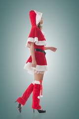 Asian Christmas girl walk