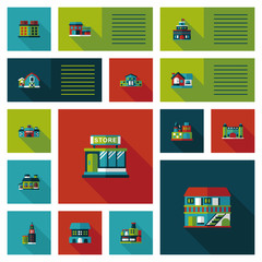 Building ui flat design background set, eps10