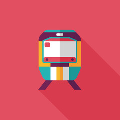 Transportation subway flat icon with long shadow,eps10