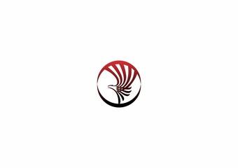 eagle, hawk, wing, falcon, bird, circle logo