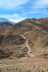 Path in the barren Sinai mountains