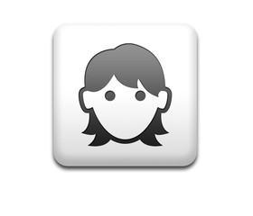 Boton cuadrado blanco mujer 3D