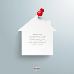 Paper House Red Thumbtack