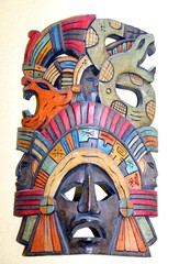 mask of an ancient population of Central Mexico