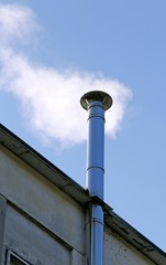 steel chimney smoke of the heating system