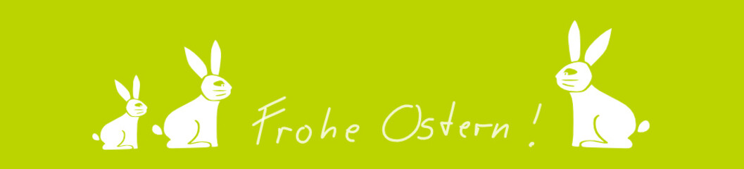 Frohe Ostern Banner Gruß