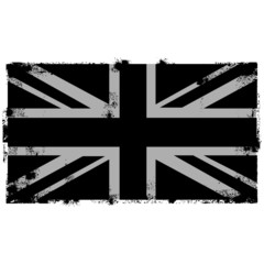Grunge Black British Background flag