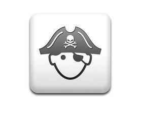 Boton cuadrado blanco pirata 3D