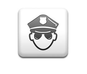 Boton cuadrado blanco policia 3D