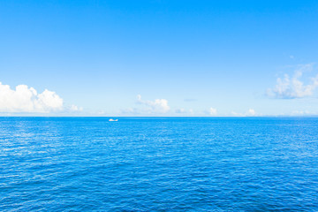 The blue ocean and sky in Okinawa