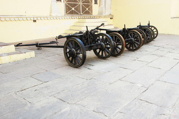 Cannon Carts on Display
