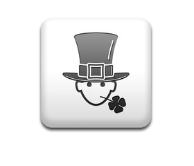 Boton cuadrado blanco St Patrick 3D