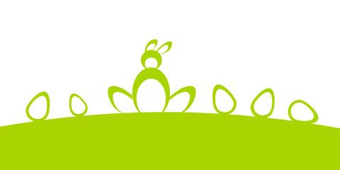 osterhase hügel wiese grün
