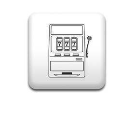 Boton cuadrado blanco tragaperras 3D