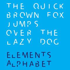 Inividual Alphabet Characters of a Custom Font - Elements Upperc
