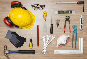 Construction Tools On Floor