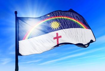 Pernambuco (Brazil) flag waving on the wind
