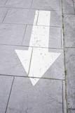 Arrow in tile