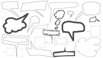 sprechblasen skizzen