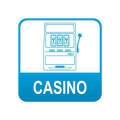 Etiqueta app abajo azul CASINO