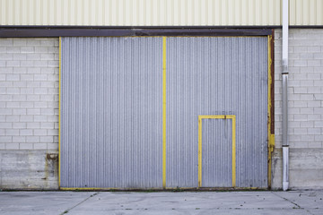 Industrial metal doors