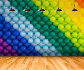 Lamp with Colorful balloons background