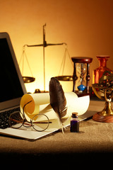Vintage Still Life With Laptop