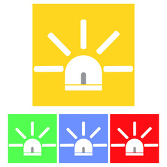 A set of flat icons siren