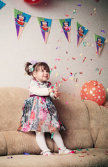 little girl celebrating birthday party
