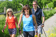 Spass beim gemeinsamen walken