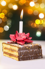 Lit birthday candle