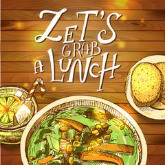 Lunch- vector illustration