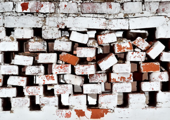 old destroyed brick  wall background