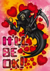 Funny Halloween Valentine card