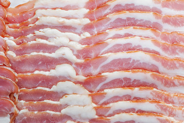Thin slices of bacon