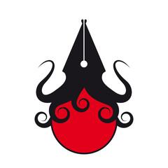 tintenfisch füller symbol