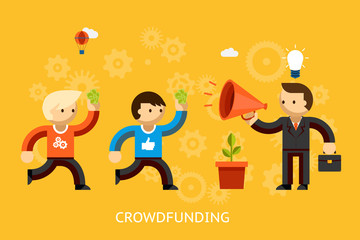 Crowd funding concept