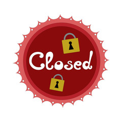 Closed sign vector illustration