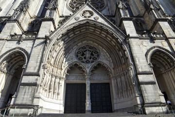 An epic looking portal into a big church