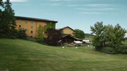 Summer in Villa Sparina, Gavi, Italy. Pan