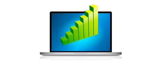 statistiche, notebook, grafico, istogramma
