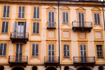 Building Facade with Windows