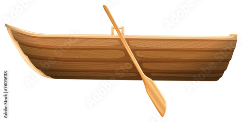 A wooden boat