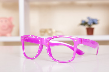 Pink spot sunglasses