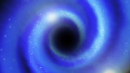 Abstract wormhole in space, loop-able