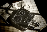 Old Retro 8mm Video Camera - 76046965