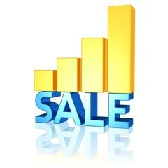 SALE - Text und steigende Einnahmen