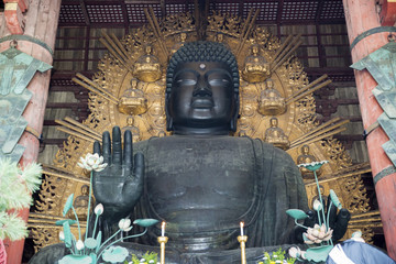 Daibutsu in the Daibutsu-den at Todaiji Temple in Nara