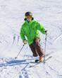 Skisport auf präparierter Piste