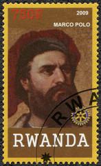 RWANDA - 2009: shows portrait of Marco Polo (1254-1324)